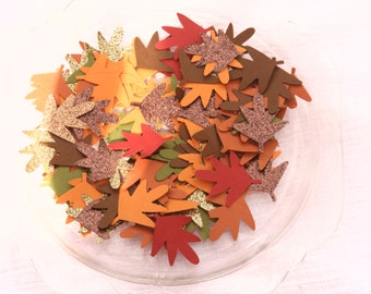 100 count, Leaf confetti, Fall, Thanksgiving, party decor, confetti, table confetti, Happy thanksgiving, It's fall ya'll, fall in love