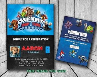Skylanders Invitation, Skylanders  Invite, Skylanders  Birthday, Skylanders  Party, Skylanders Party, Bithday Invitation, MLP