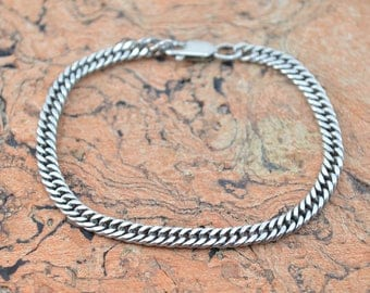 Curb Chain Bracelet Sterling Silver 7.4g