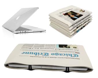 "11"" Macbook Air Case Chicago Tribune Newspaper Case Sleeve  Macbook Air 11 sleeve Macbook Air 11 in case 11 Air Bag  Macbook Air 11 cover"