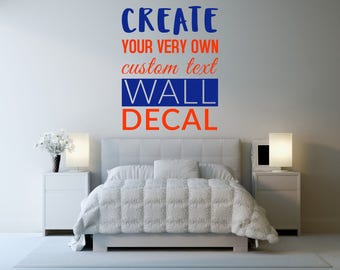 Custom Wall Decal - Create Your Own Custom Decal! Custom Typography Personalized Vinyl Quotes Text Stencil Art Gift #2