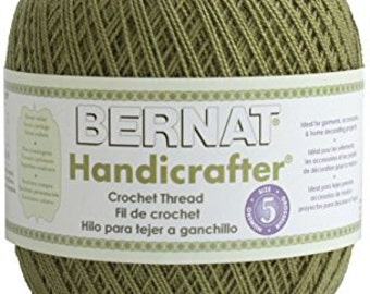 Bernat Handicrafter Crochet Thread - 6 skein in avocado