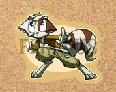 DreamKeepers Mace Sticker - Web Comic Stickers - Furry Community - Anthro Decals DK010