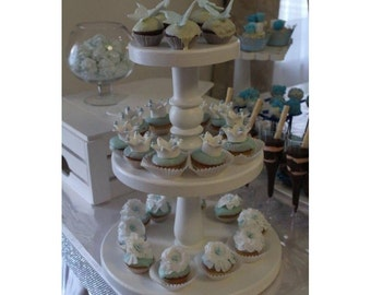 3 tier cake stand,3 tier wedding stand,Wood Cupcake Tower,wood cupcake stand,tiered cake stand,3 tiered cake pedestal,wedding tiered stand
