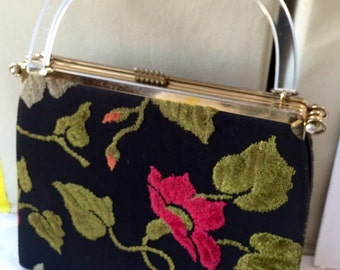 L & m  three in one vintage tapestry bag 1950's