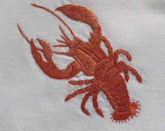Machine Embroidery Design Red lobster