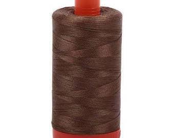 Aurifil Mako Cotton Thread Solid 50wt 1422yds Dark Sandstone