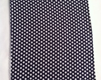 Navy Polka Dotted Burp Cloth
