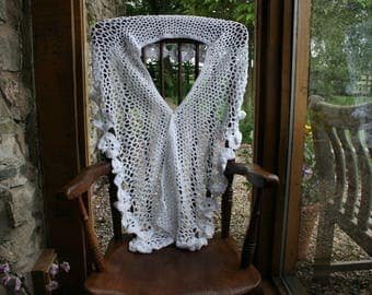 White Bridal Shawl
