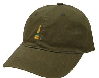 Capsule Design Champagne Cotton Baseball Cap Olive Green