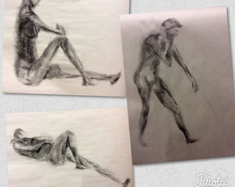 Charcoal Portrait Drawing Commission