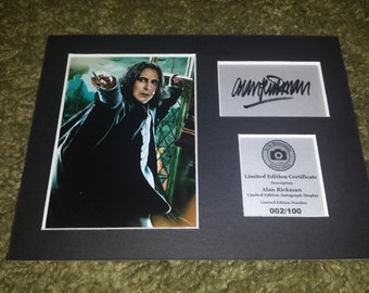 Alan Rickman - Severus Snape - Harry Potter - Signed Autograph Display - Fully Mounted and Ready To Be Framed V1