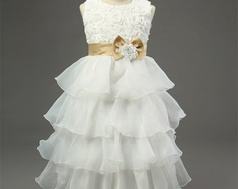Emily Baby Girl Flower Girl Dress Christening Wedding Bridesmaid Formal Gown Birthday Gift