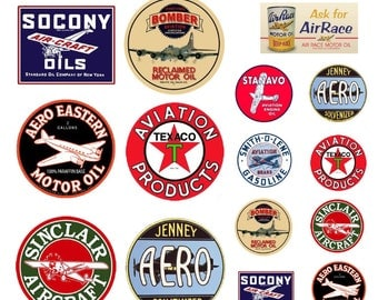 scale aviation airplane fuel oil signs