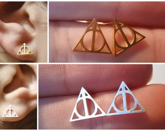 Harry Potter Deathly Hallows symbol earrings