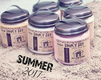 free shipping candle, Summer candle, unique candle scent,rustic jar candles, unique soy candle, designer candles, highly scented, hygge