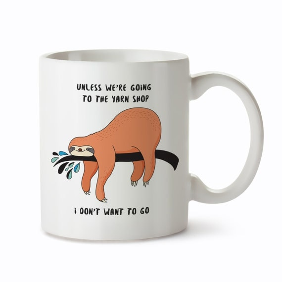 Knitting Puns List : Yarn mugs funny knitting mug gifts