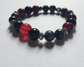 Red Dark Princess Gem Stone Bracelet