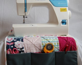 Handmade Quilted Sewing Machine Cover, Quilted Sewing Machine Work Mat, Sewing Machine Dust Cover