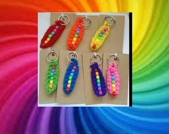 Taste the rainbow keychains