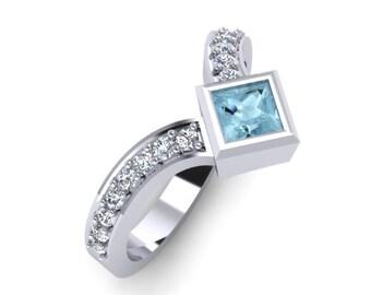 VICTORY diamond ring, diamond ring, Princess cut, Rose gold, White gold, Yellow gold, Diamonds, Victory ring,  birthstones, Hand made