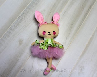 SALE Butterscotch Bunny, Bunny Doll, Rabbit, Cloth Bunny, Cloth Doll, Rag Doll, Soft Doll, Handmade Doll, Fabric Doll, Doll, Girl Gift