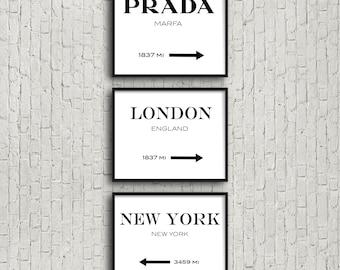 Prada Marfa style Destination Print