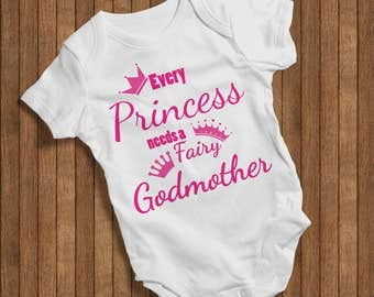 Every princess needs a fairy Godmothers Onesie Funny Humor Hip Baby Bodysuit, Baby One Piece,New born,Joke Burp baby outfit cute baby 0084W