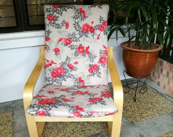 IKEA Poang Chair Cushion Cover - Floral Print