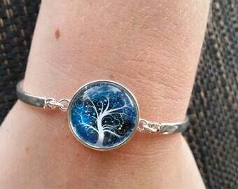 Cabochon wispy tree bracelet
