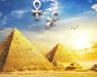 ANKH Cross Earrings, post Earring, key of life, the key of the Nile, Egyptian Ankh Silver Stud Earrings