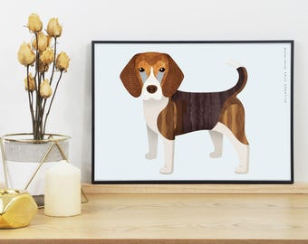 Beagle Dog Graphic Print