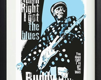 Buddy Guy unframed poster. Specially created.
