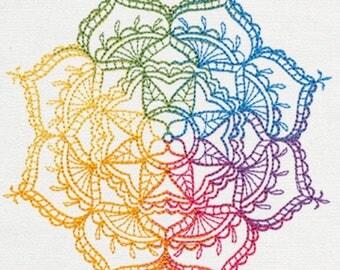 Mendhi ombré - rainbow colors