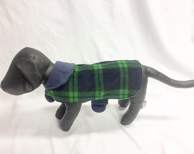Blue / Green Plaid Dog Coat 1022
