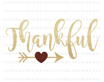 Thanksgiving Svg Cutting File Thankful Svg Fall Svg Cutting File Silhouette Cutting File Cricut Cutting File SVG DXF PNG Files Included