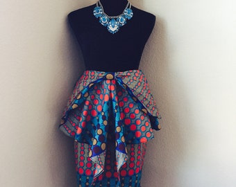 Fitted Front Peplum Skirt