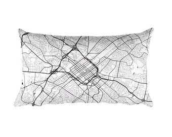 Charlotte Pillow, Charlotte Decor, Charlotte Throw Pillow, Charlotte Map, Charlotte Art, Charlotte NC, Charlotte North Carolina, Cushion