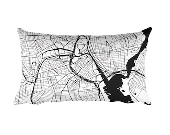 Providence Pillow, Providence Decor, Providence Throw Pillow, Providence Gift, Providence Map, Providence Art, Providence RI, Cushion