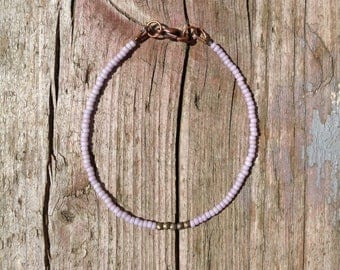 fragile & tender Bohemianarmband with Hematite beads in mauve
