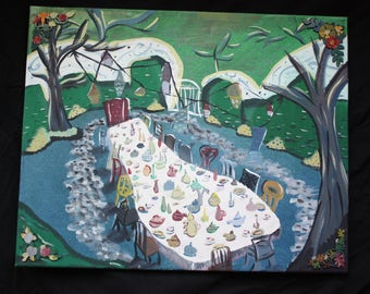Mad Hatter's Tea Party Original Painting