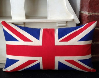 Hand Crafted Union Jack Cushion With Feather Pad