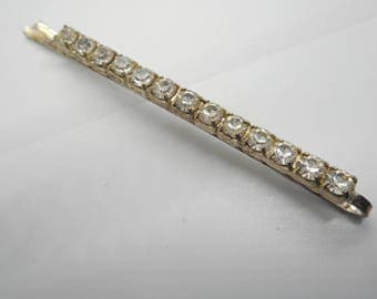 Antique Art Deco Rhinestone Hair Accessory Barrette Bobby Pin