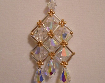 Swarovski Crystal Deco Necklace w/ Gold Plated Clasp