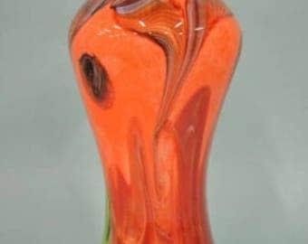 Cristalleria Stile DÁrte Murano Feather Vase