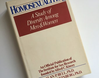 Vintage Book -HOMOSEXUALITIES Kinsey Report Reference Book, Published 1978