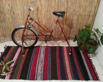 Rustic rug-Rag rug-Kitchen rug-Boucherouite Rug-Style-Turkish kilim rug-Small rug-Cheap rugs-Tapis-Teppich-Alfombra-Vintage-Area Rug 5x7