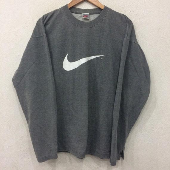Sale rare!! Vintage NIKE Sweatshirt Gray Colour Large Size