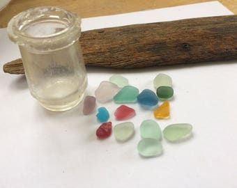 Colourful Scottish sea glass set
