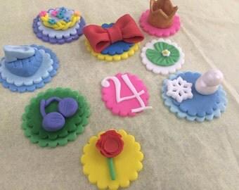 Princess Fondant Cupcake Toppers